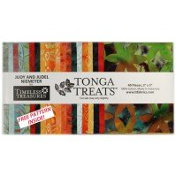 "Tonga Treats bird of paradise 5"" Charm pack"