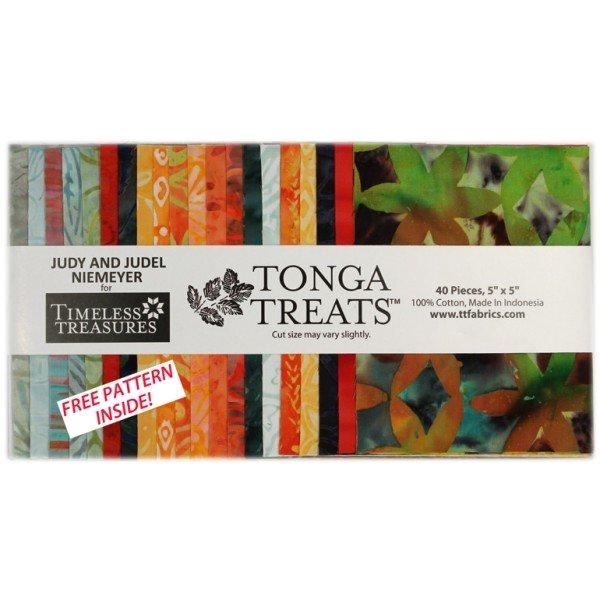 Tonga Treats Bird Of Paradise 5 Charm Pack From Timeless Treasures