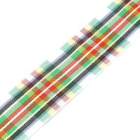 light scottish tartan ribbon 25mm
