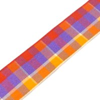 checked tartan ribbon 25mm