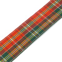 classic two tone tartan ribbon 25mm