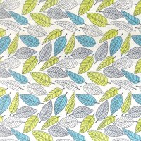 leaf floral cotton fabric