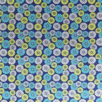 daisies floral sketch cotton fabric