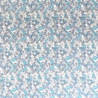 blue blossom floral cotton fabric