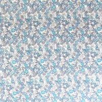 blue blossom floral cotton fabric