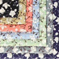 floral blossoms cotton fabric