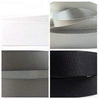 monochrome grosgrain ribbon