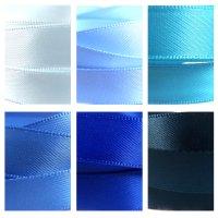blue satin ribbon