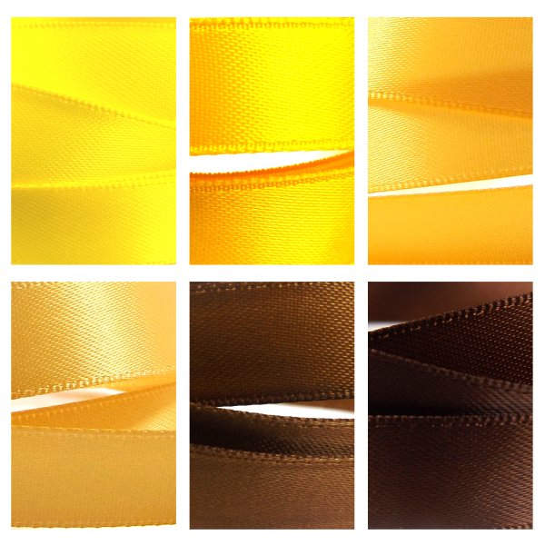 Yellow Brown Satin Ribbon