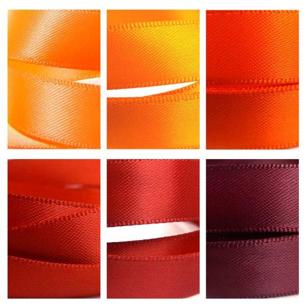 Red Orange Satin Ribbon