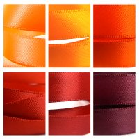 red orange satin ribbon