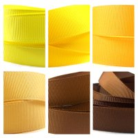 yellow brown grosgrain ribbon
