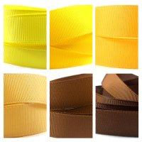 yellow brown grosgrain ribbon