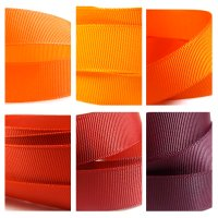 red orange grosgrain ribbon