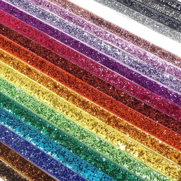 10mm Glitter Velvet Ribbon By The Metres