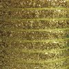 gold - 10mm glitter velvet ribbon metres