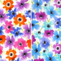 bright poppies fabric