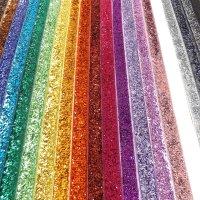 25mm glitter velvet ribbon 22 metre rolls