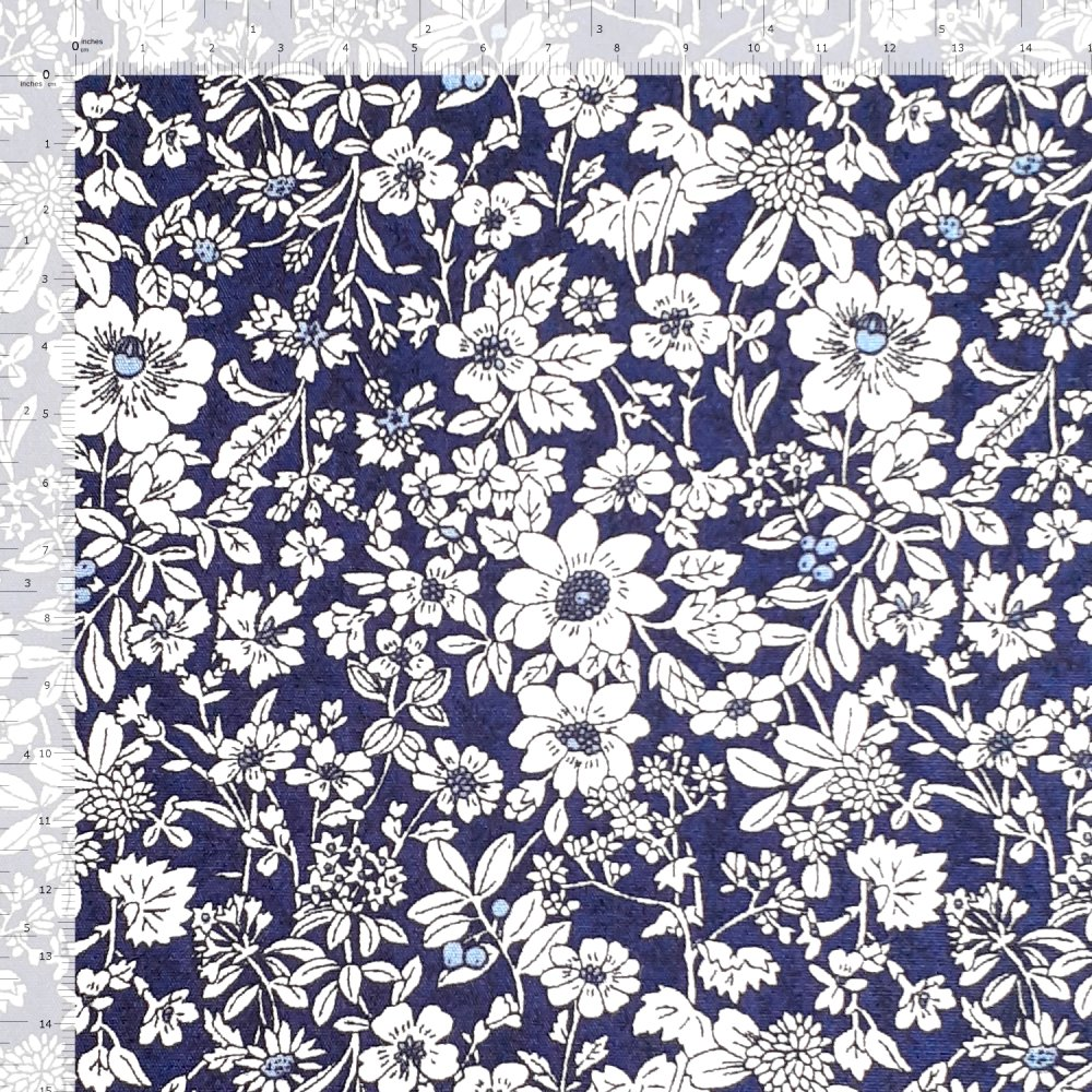 100% Cotton Poplin Fabric Rose & Hubble Small Ditsy Floral