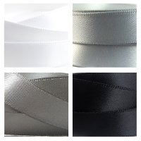 monochrome satin ribbon