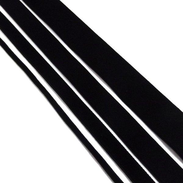 Black Single Velvet Ribbon