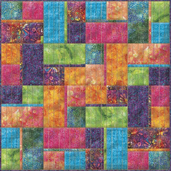 Full Sized Batik Quilt Design